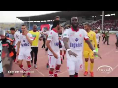 اليمن اليوم- بالفيديو  احتفالية لاعبو الوداد مع الجمهور