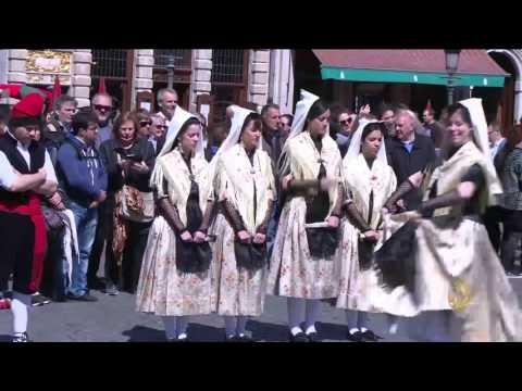 اليمن اليوم- شاهد تدشين أسبوع للتراثي الكاتالوني في بروكسل