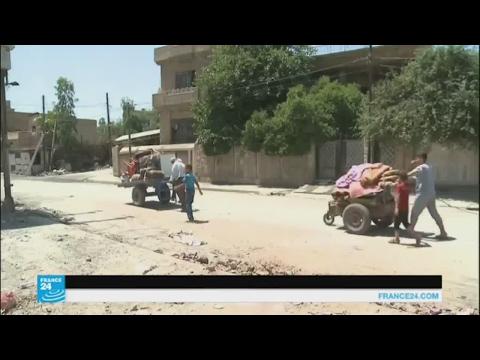 اليمن اليوم- بالفيديو عائلات عراقية تعود إلى الأحياء المحرّرة في الموصل