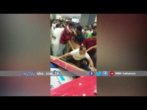 اليمن اليوم- بالفيديو  تخفيضات مركز تجاري في أبوظبي تثير جنون العملاء
