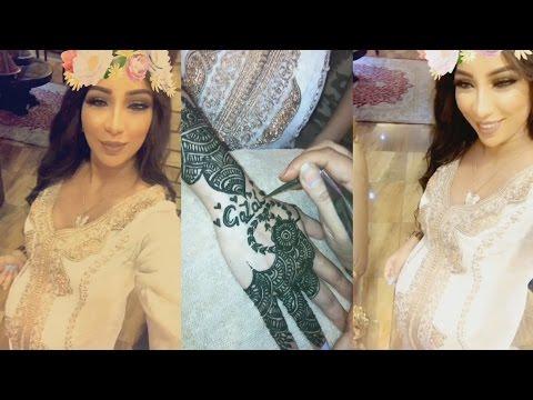 اليمن اليوم- بالفيديو دنيا بطمة تحتفل بمناسبة اقتراب موعد ولادتها