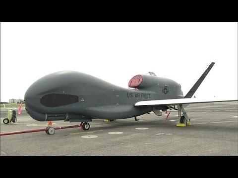 اليمن اليوم- بالفيديو صورة قريبة لطائرة الاستطلاع الأميركية غلوبال هوك