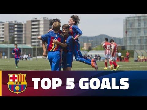 اليمن اليوم- أفضل 5 أهداف لشباب أكاديمية برشلونة الماسية