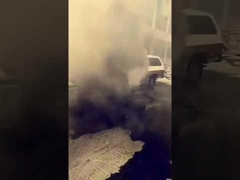 اليمن اليوم- شاهد سائق ينجو من الموت بأعجوبة