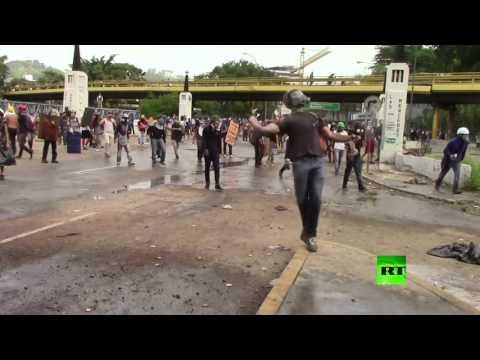 اليمن اليوم- شاهد استمرار الاحتجاجات والشتباكات في فنزويلا