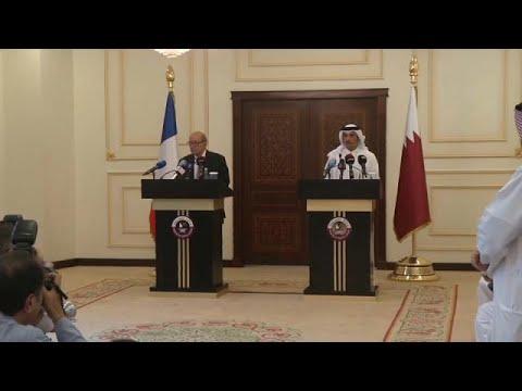 اليمن اليوم- شاهد وزير خارجية فرنسا في جولة خليجية لدعم جهود الوساطة بين قطر وجيرانها