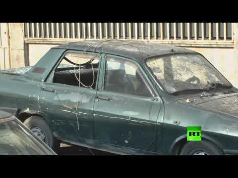 اليمن اليوم- شاهد مسلحون يقصفون حي الأكرمية في حلب