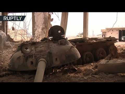 اليمن اليوم- شاهد ضبط مصنع دبابات لتنظيم داعش في بلدة عقيربات