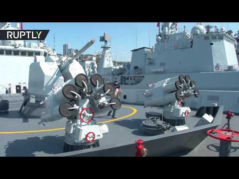 اليمن اليوم- شاهد لحظة وصول سفن حربية صينية إلى فلاديفوستوك الروسية