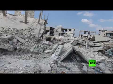 اليمن اليوم- شاهد طائرة من دون طيار توثق دمارًا هائلًا شهدته مدينة درعا السورية
