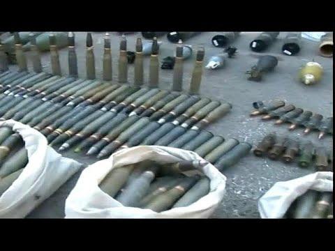 اليمن اليوم- شاهد العثورعلى أسلحة إسرائيلية الصنع في حمص وحماة