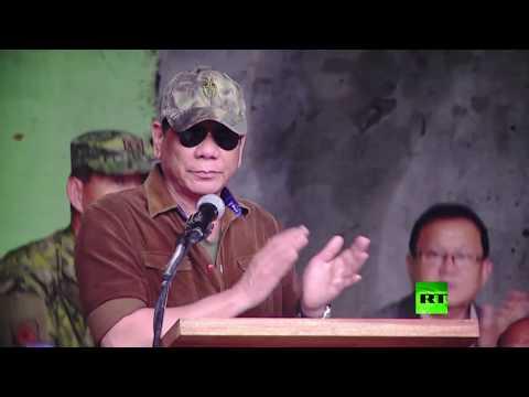 اليمن اليوم- شاهد رئيس الفلبين يعلن تحرير مراوي من قبضة داعش