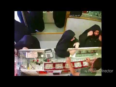 اليمن اليوم- شاهد عصابة نسائية تسرق محل ذهب في بغداد