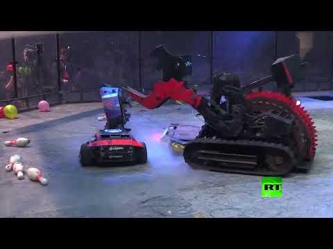 سباق تكسير عظام بين روبوتات