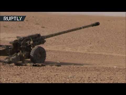 شاهد غارات جوية وقصف مدفعي على داعش في البوكمال