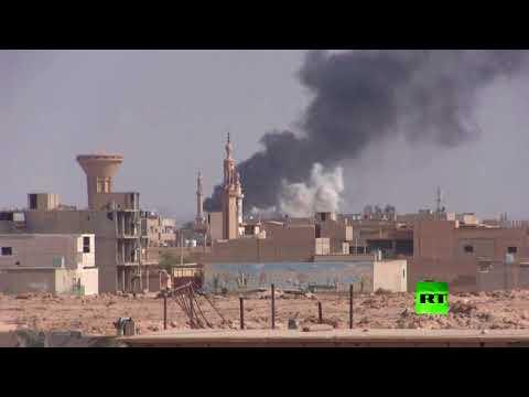 شاهد معارك عسكرية في محيط مدينة البوكمال السورية