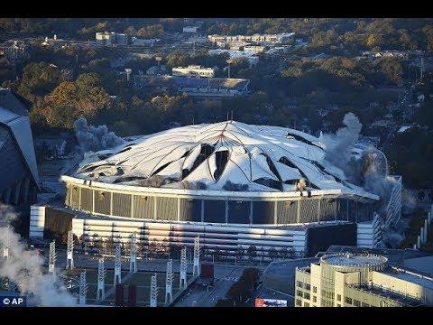 شاهد لحظة تدمير ملعب بـ 5 آلاف رطل من المتفجرات