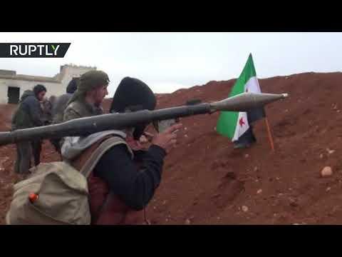شاهد وصول عناصر من الجيش السوري الحر مدعومة من تركيا الى اعزاز