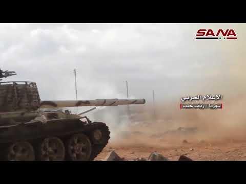 شاهد وحدات من الجيش السوري تتقدم باتجاه مطار أبو الضهور