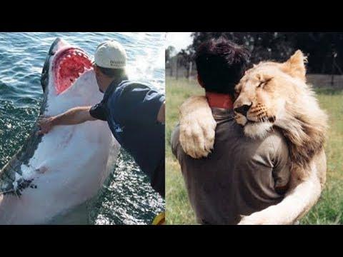 شاهد أغرب الصداقات التي قامت بين الأشخاص والحيوانات