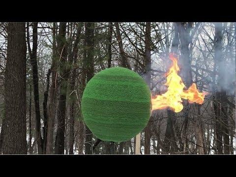 شاهد لحظة اشتعال كرة ضخمة من الكبريت