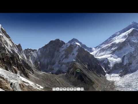 شاهد لقطات صادمة لجسم غريب يحلق فوق جبل إيفرست