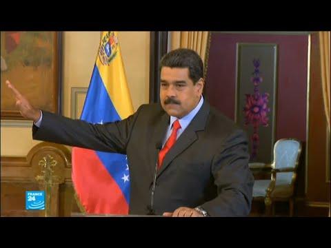 شاهد  مادورو يدعو إلى انتخابات تشريعية مبكرة