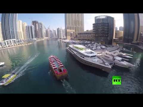 شاهد  زيبلاين لمشاهدة دبي الإماراتية من علو شاهق