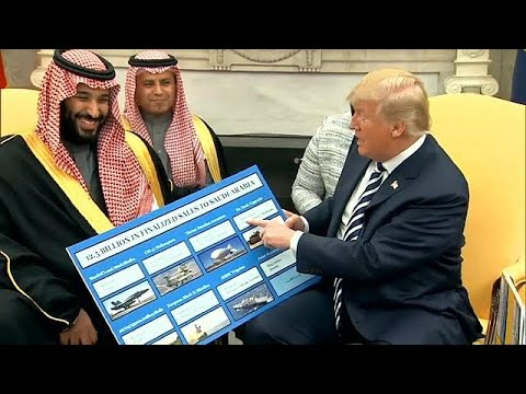 شاهد ترامب وبن سلمان يثنيان على حجم التبادل الضخم بين أميركا والسعودية