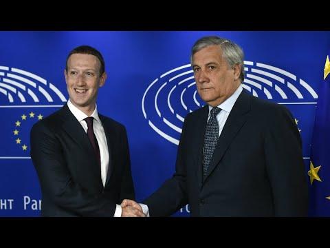 مارك زوكربرغ يعتذر أمام البرلمان الأوروبي