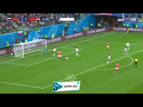 شاهد  هدف روسيا الأول في مرمى المنتخب المصري