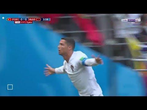 شاهد لحظة إحراز كريستيانو هدفه الأول في مرمى المنتخب المغربي