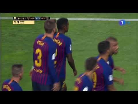 هدف برشلونة في مرمى إشبيلية