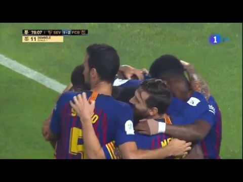 هدف الفوز بـالسوبر الإسباني لصالح برشلونة