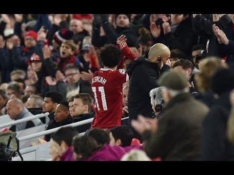 شاهد  فرحة جماهير ليفربول بهدف صلاح في مرمى هيدرسفيلد