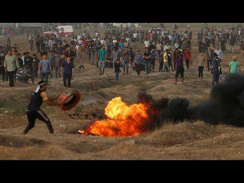 شاهد إصابة 130 فلسطينيًا برصاص الاحتلال الإسرائيلي في قطاع غزة