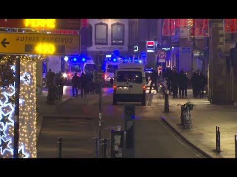 شاهد مكان حادثة إطلاق النار في مدينة ستراسبورغ الفرنسية