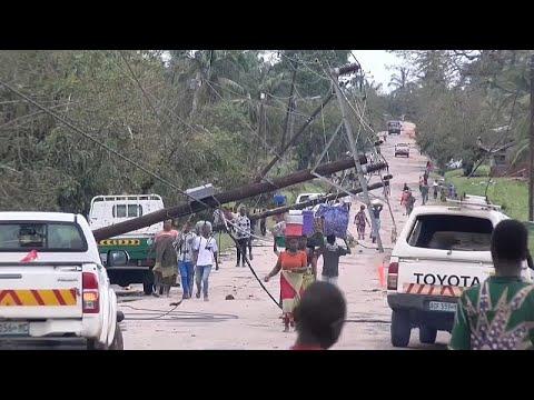 شاهد تأثير الإعصار كينيث على شوارع شمال موزمبيق