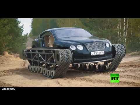 شاهد تحويل السيارة الكوبية الرياضية بنتلي إلى دبابة