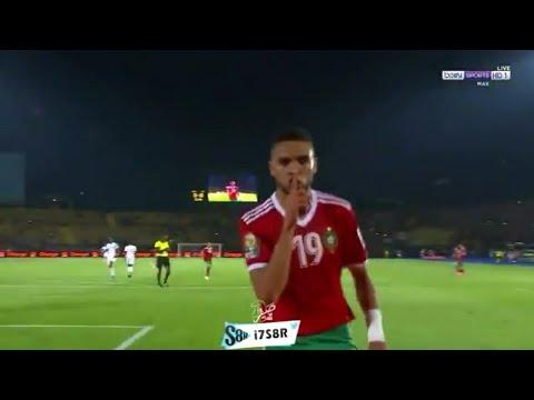 شاهد هدف المغرب الأول في الكوت ديفوار