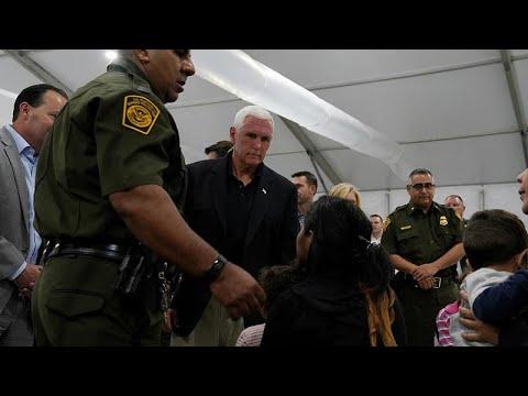 شاهد مهاجرون يهتفون أمام نائب الرئيس الأميركي لا مكان للاستحمام