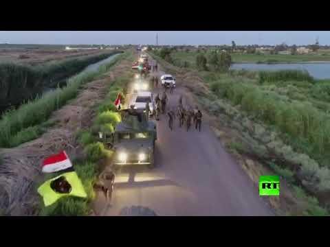 شاهد القوات الأمنية والحشد الشعبي تطهّران 12 قرية شمالي بغداد