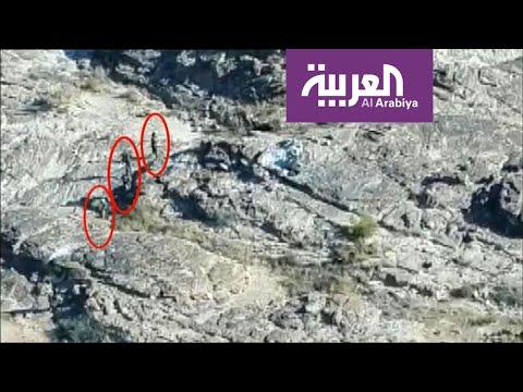 شاهد رصد معركة نادرة في صعدة اليمنية بطائرة درون من السماء