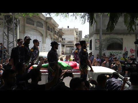 تشييع جثمان الشرطي سلامة النديم التابع لحركة حماس