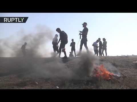 شاهد مقتل العشرات في تظاهرا مخيم العودة شرق خان يونس