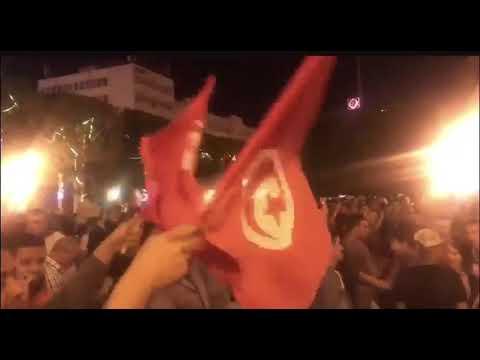 شاهد احتفالات العاصمة التونسية بفوز قيس سعيد في انتخابات الرئاسة التونسية 2019