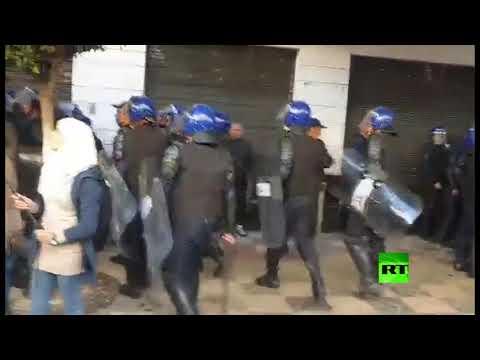 شاهد انطلاق مظاهرات رافضة للانتخابات الرئاسية في الجزائر