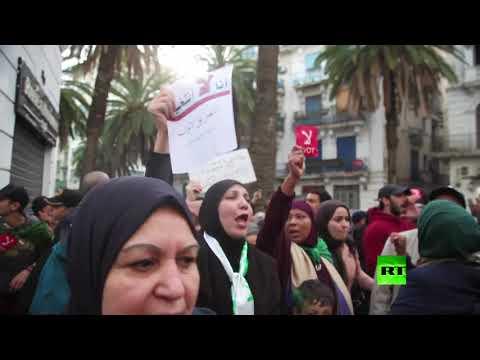 شاهد استمرار احتجاجات ضد انتخابات الرئاسة في الجزائر