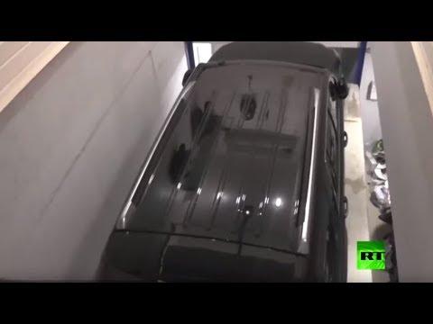 شاهد كشف وكر لإخفاء السيارات المسروقة