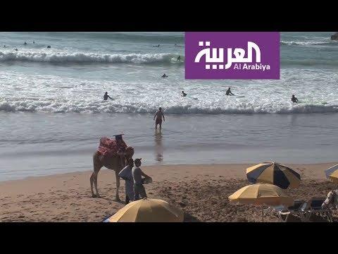 تغازوت المغربية قبلة هواة الرياضات البحرية مع اشتداد البرد في أوروبا